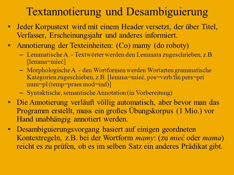 Textannotierung und Desambiguierung