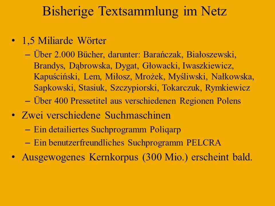 Bisherige Textsammlung im Netz