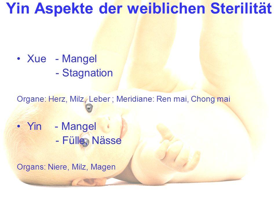 Yin Aspekte der weiblichen Sterilität