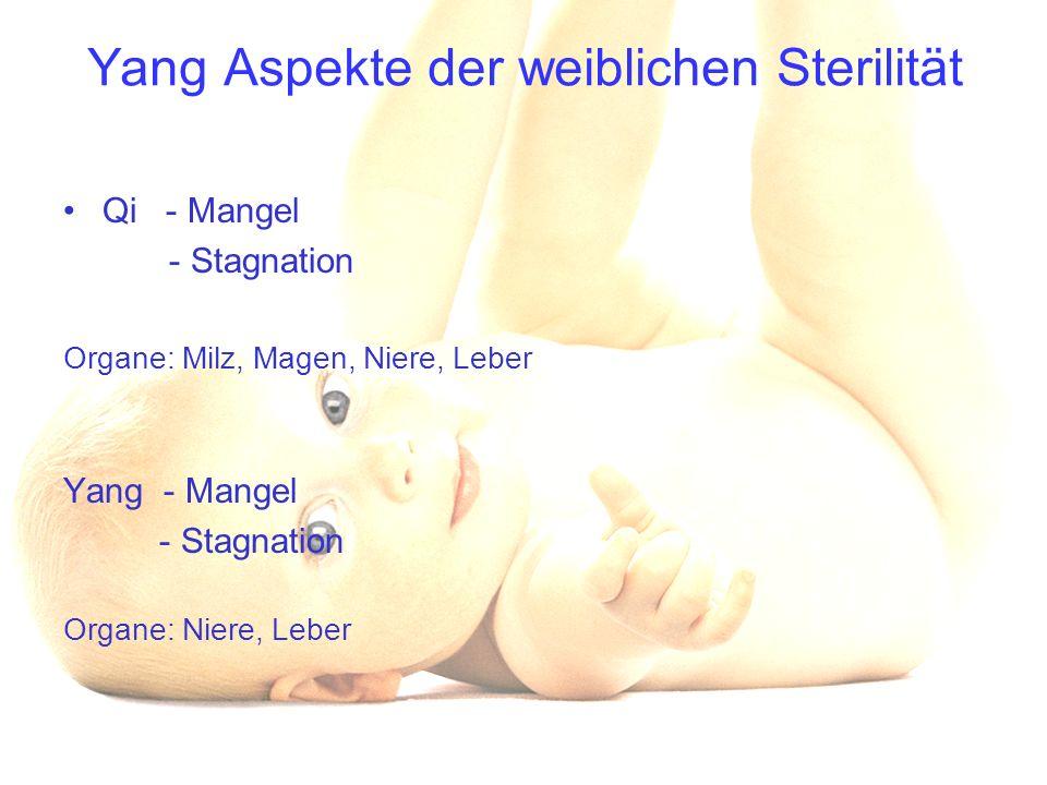 Yang Aspekte der weiblichen Sterilität