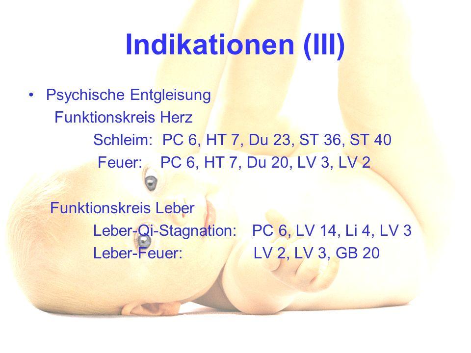 Indikationen (III) Psychische Entgleisung Funktionskreis Herz