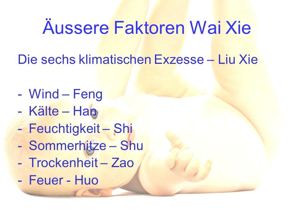 Äussere Faktoren Wai Xie
