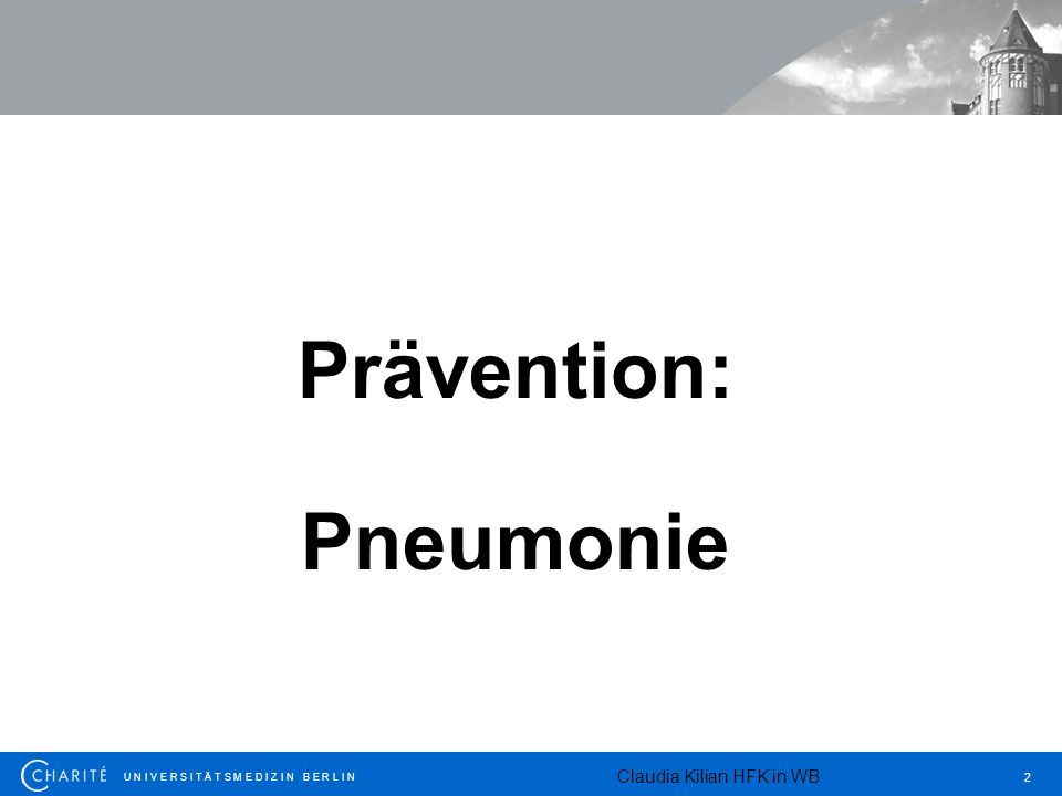Prävention: Pneumonie