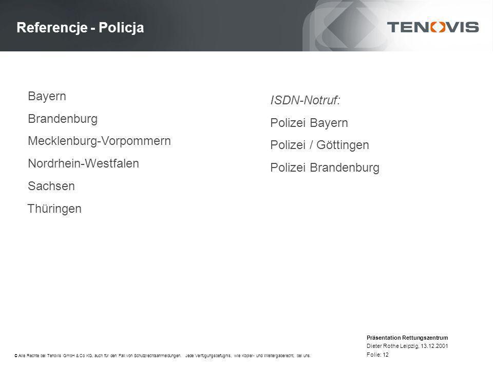 Referencje - Policja Bayern ISDN-Notruf: Brandenburg Polizei Bayern