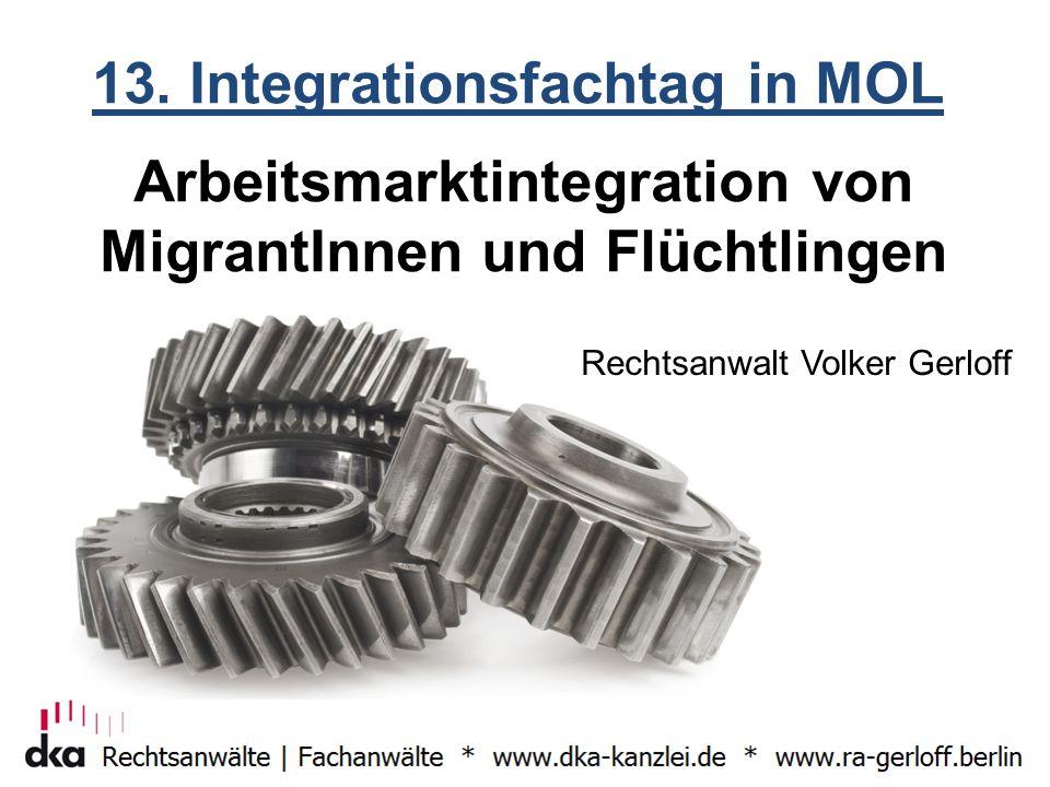 Arbeitsmarktintegration von MigrantInnen und Flüchtlingen