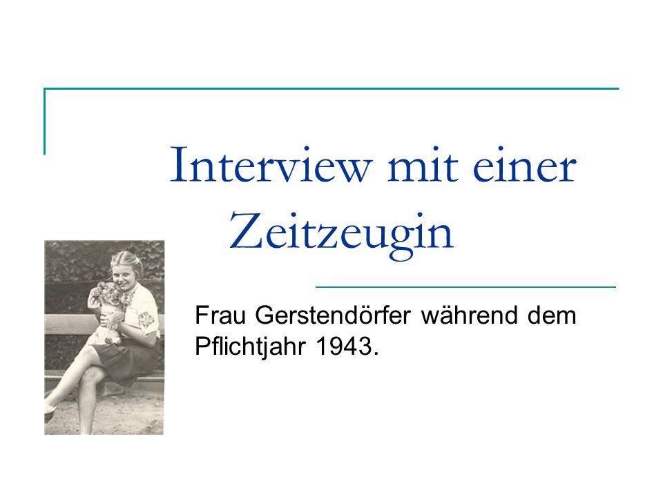 Interview mit einer Zeitzeugin