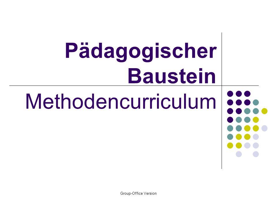 Pädagogischer Baustein Methodencurriculum