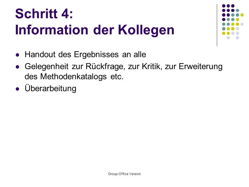 Schritt 4: Information der Kollegen