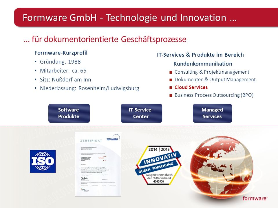 Formware GmbH - Technologie und Innovation …