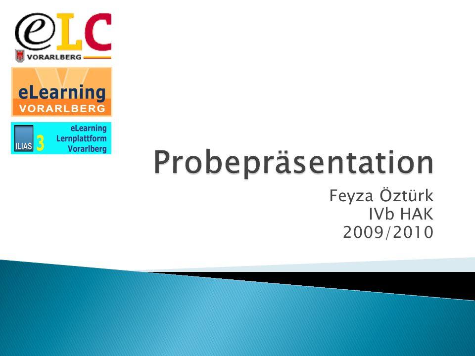 Probepräsentation Feyza Öztürk IVb HAK 2009/2010