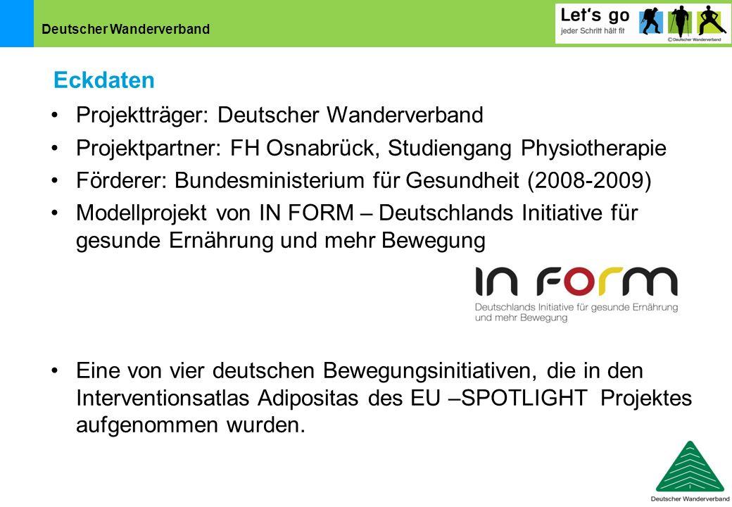 Eckdaten Projektträger: Deutscher Wanderverband