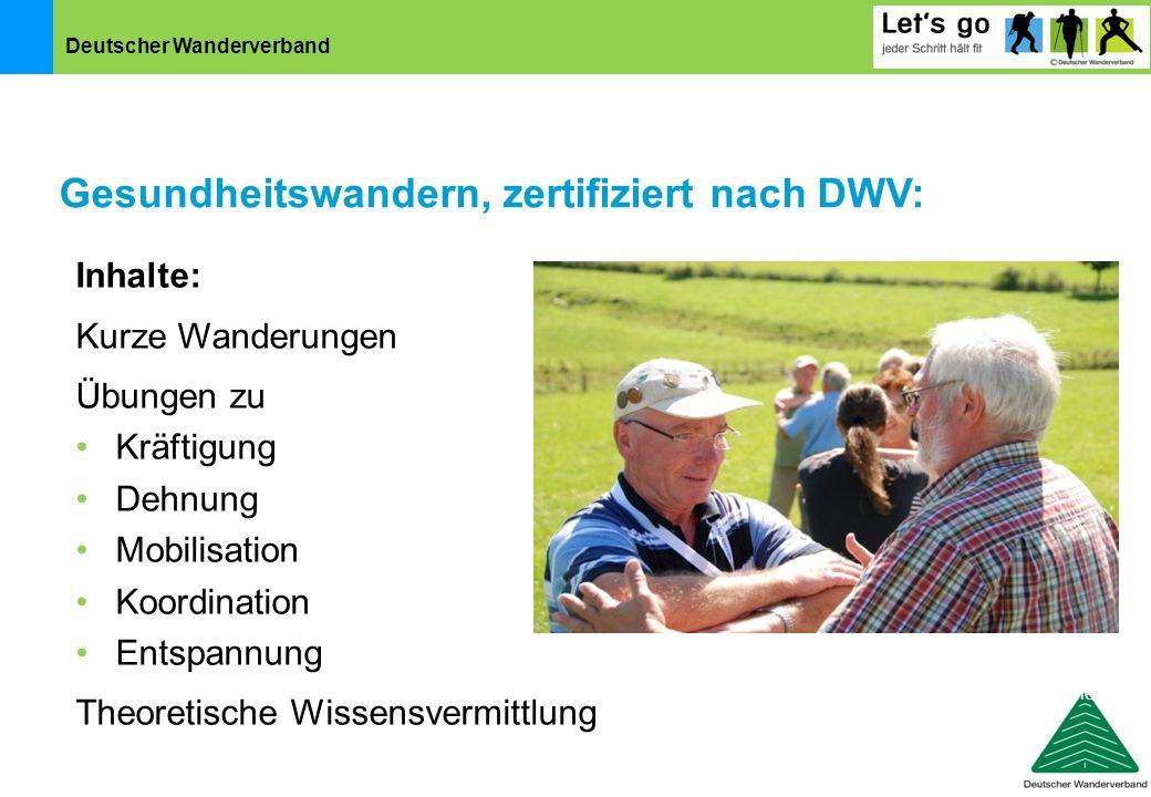 Gesundheitswandern, zertifiziert nach DWV: