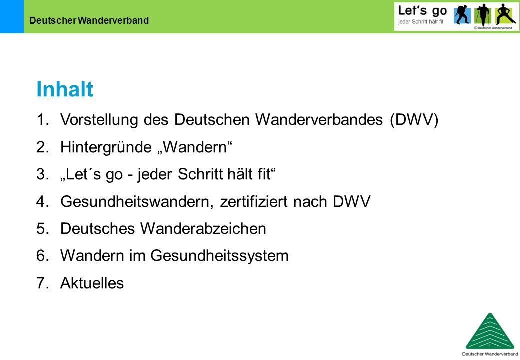 Inhalt Vorstellung des Deutschen Wanderverbandes (DWV)