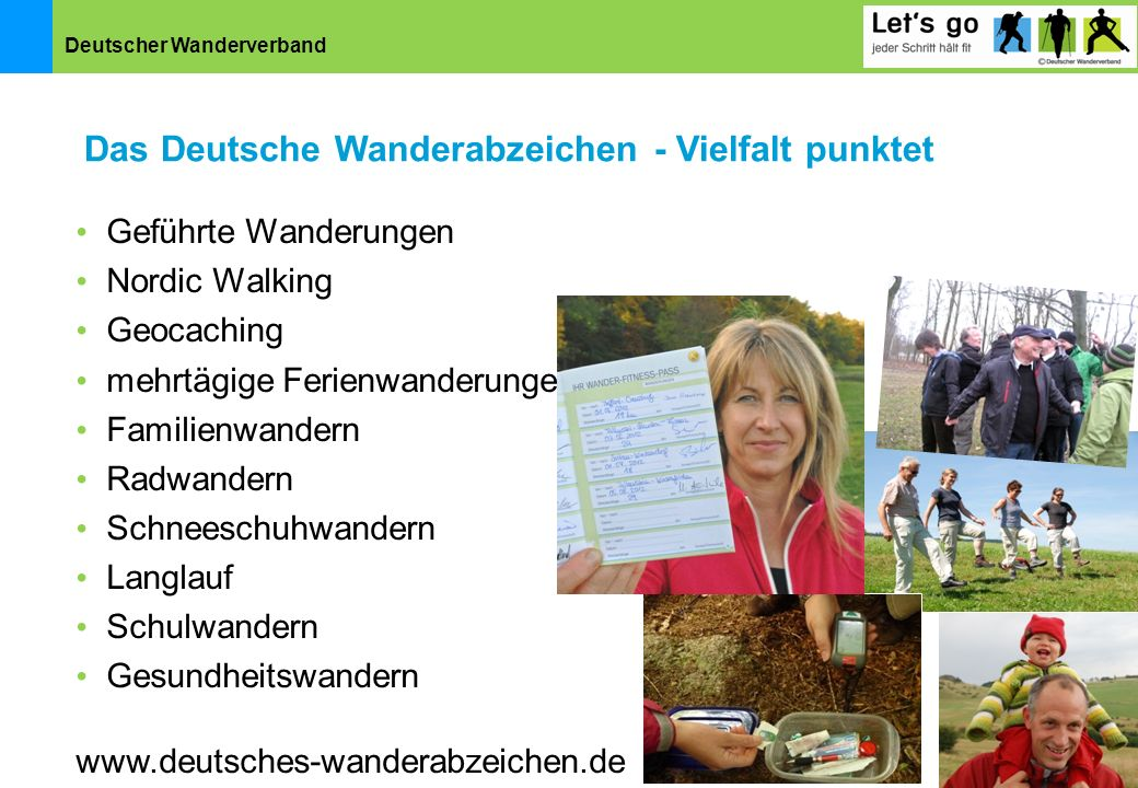 Das Deutsche Wanderabzeichen - Vielfalt punktet