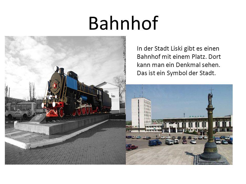 Bahnhof In der Stadt Liski gibt es einen Bahnhof mit einem Platz.