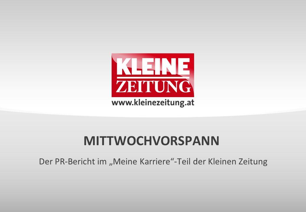 """Der PR-Bericht im """"Meine Karriere -Teil der Kleinen Zeitung"""