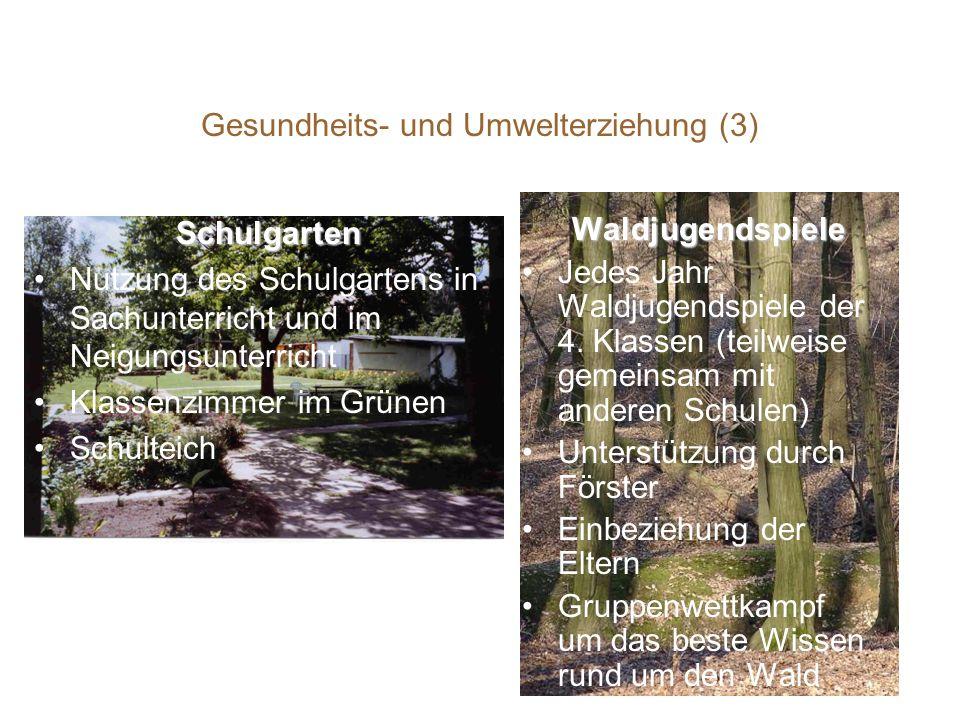 Gesundheits- und Umwelterziehung (3)