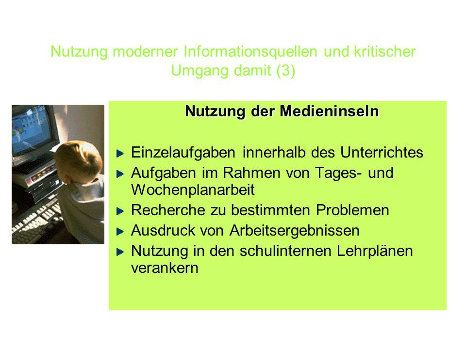 Nutzung moderner Informationsquellen und kritischer Umgang damit (3)