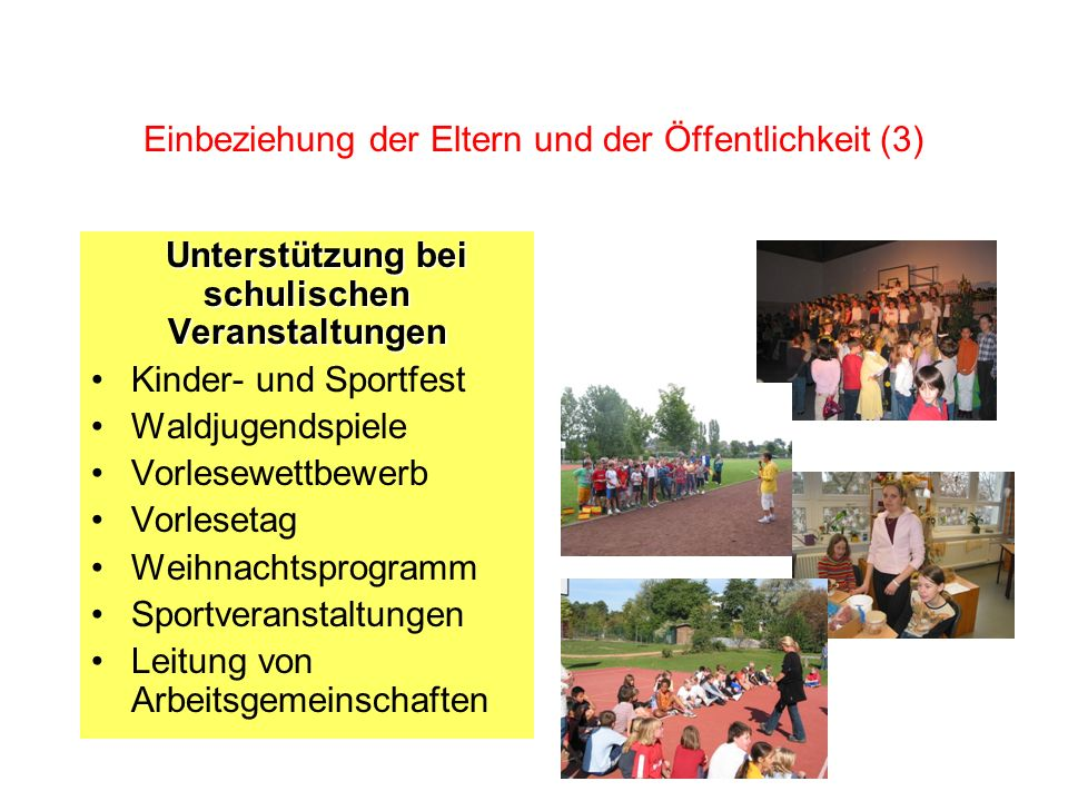 Einbeziehung der Eltern und der Öffentlichkeit (3)