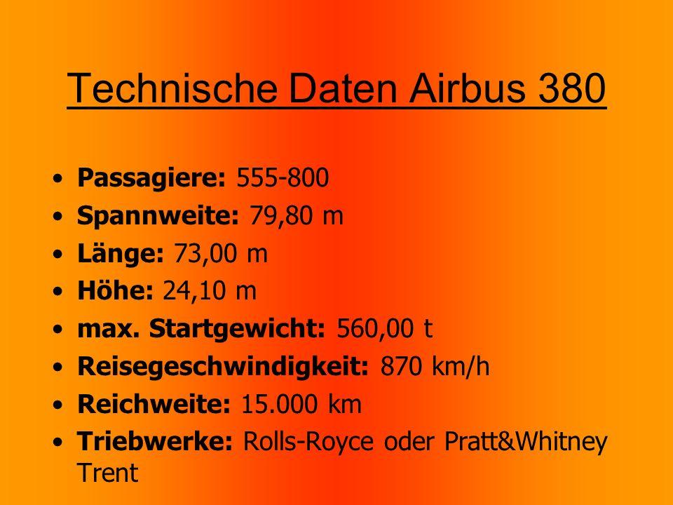 Technische Daten Airbus 380