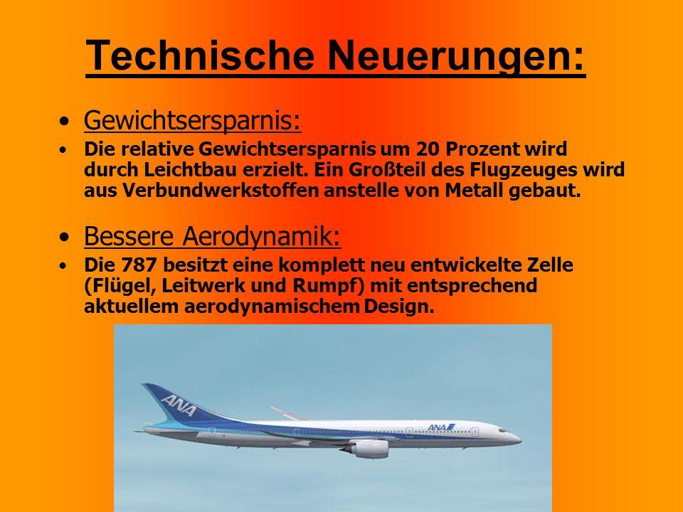 Technische Neuerungen: