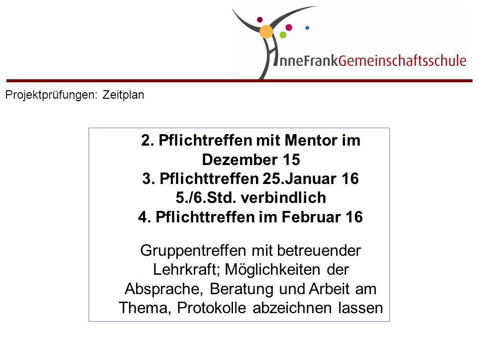 2. Pflichtreffen mit Mentor im Dezember 15