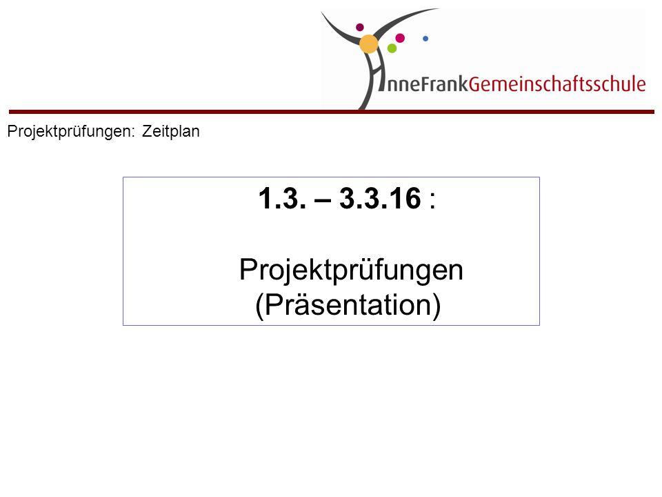 Projektprüfungen (Präsentation)