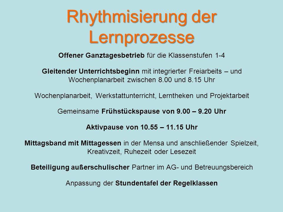 Rhythmisierung der Lernprozesse