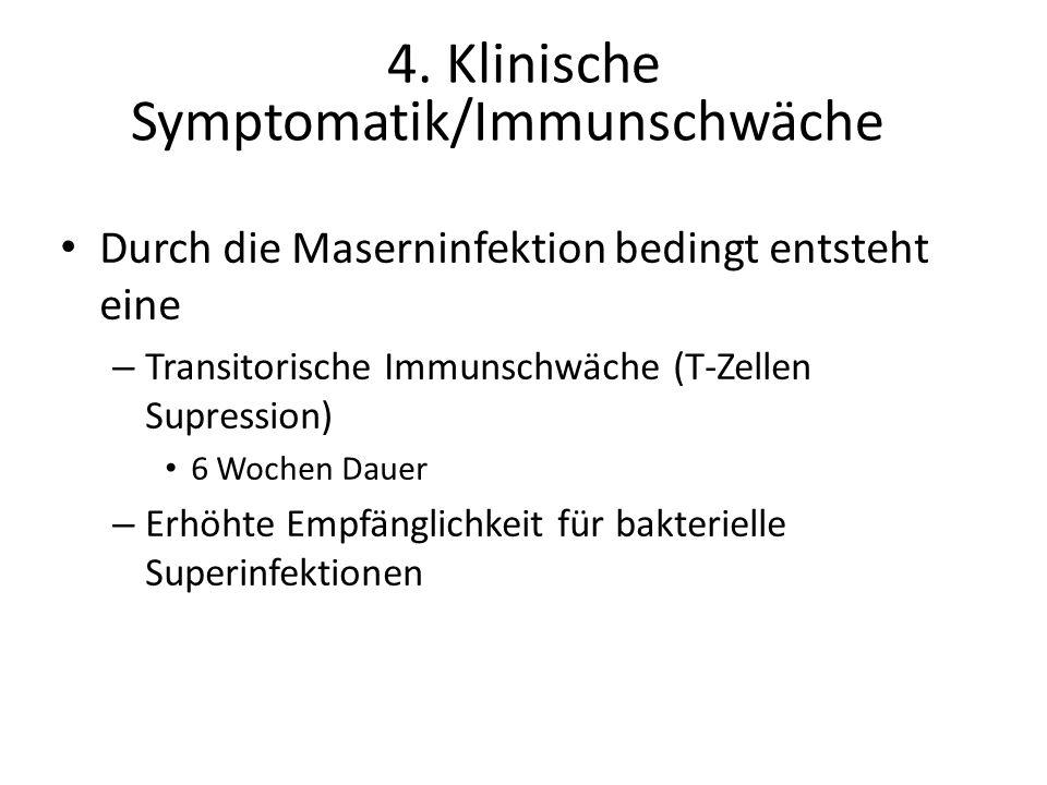 4. Klinische Symptomatik/Immunschwäche