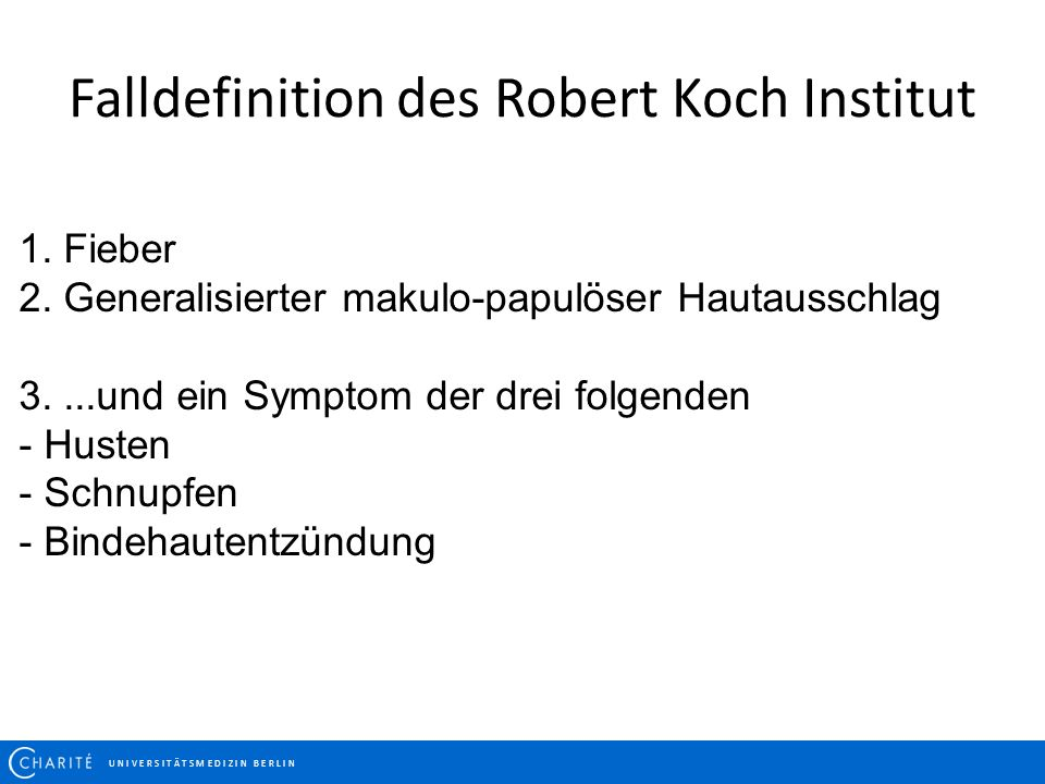 Falldefinition des Robert Koch Institut