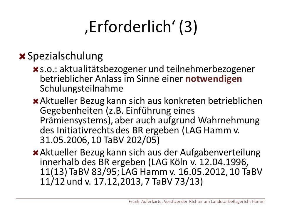 'Erforderlich' (3) Spezialschulung