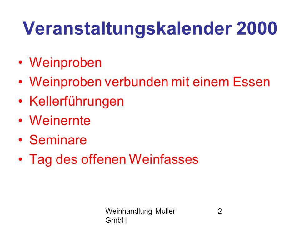 Veranstaltungskalender 2000