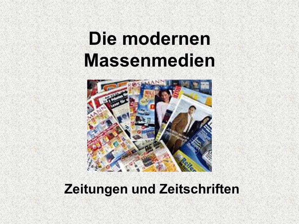 Die modernen Massenmedien