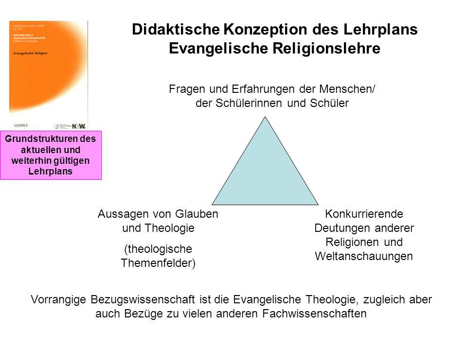Didaktische Konzeption des Lehrplans Evangelische Religionslehre