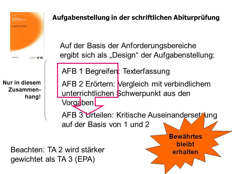 AFB 1 Begreifen: Texterfassung
