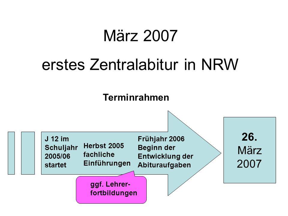 erstes Zentralabitur in NRW