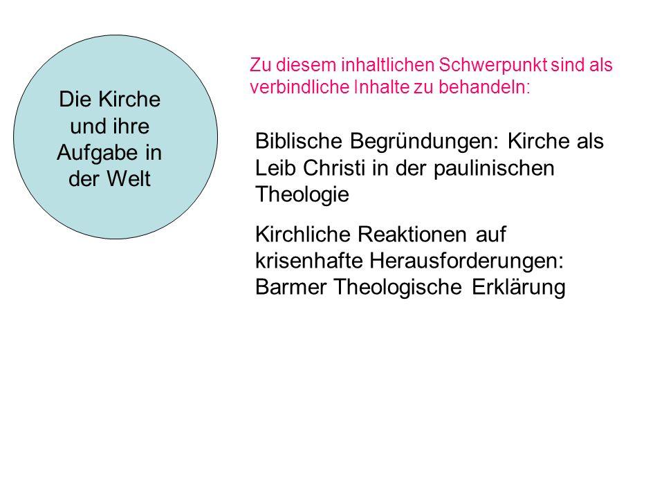 Die Kirche und ihre Aufgabe in der Welt
