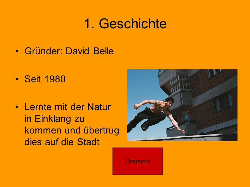 1. Geschichte Gründer: David Belle Seit 1980
