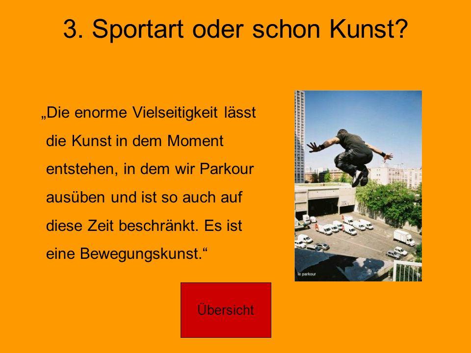 3. Sportart oder schon Kunst