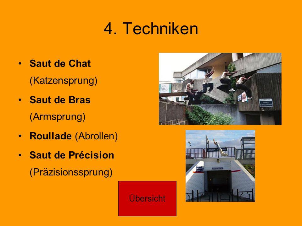 4. Techniken Saut de Chat (Katzensprung) Saut de Bras (Armsprung)