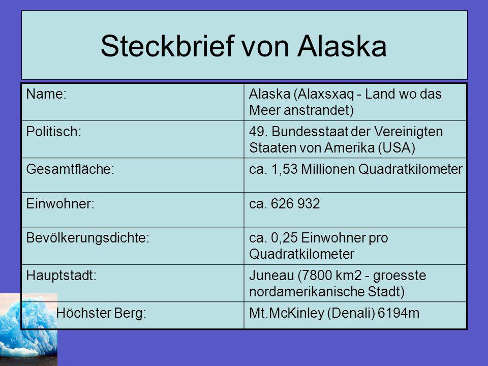 Steckbrief von Alaska Name: