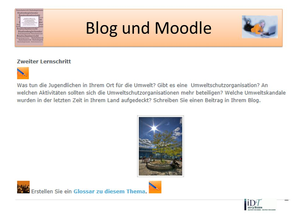Blog und Moodle