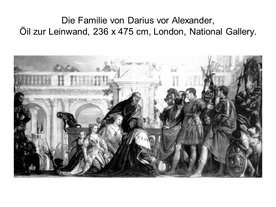 Die Familie von Darius vor Alexander, Öil zur Leinwand, 236 x 475 cm, London, National Gallery.