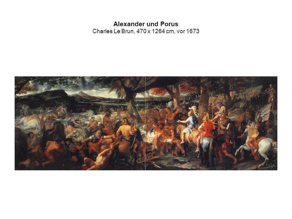 Alexander und Porus Charles Le Brun, 470 x 1264 cm, vor 1673