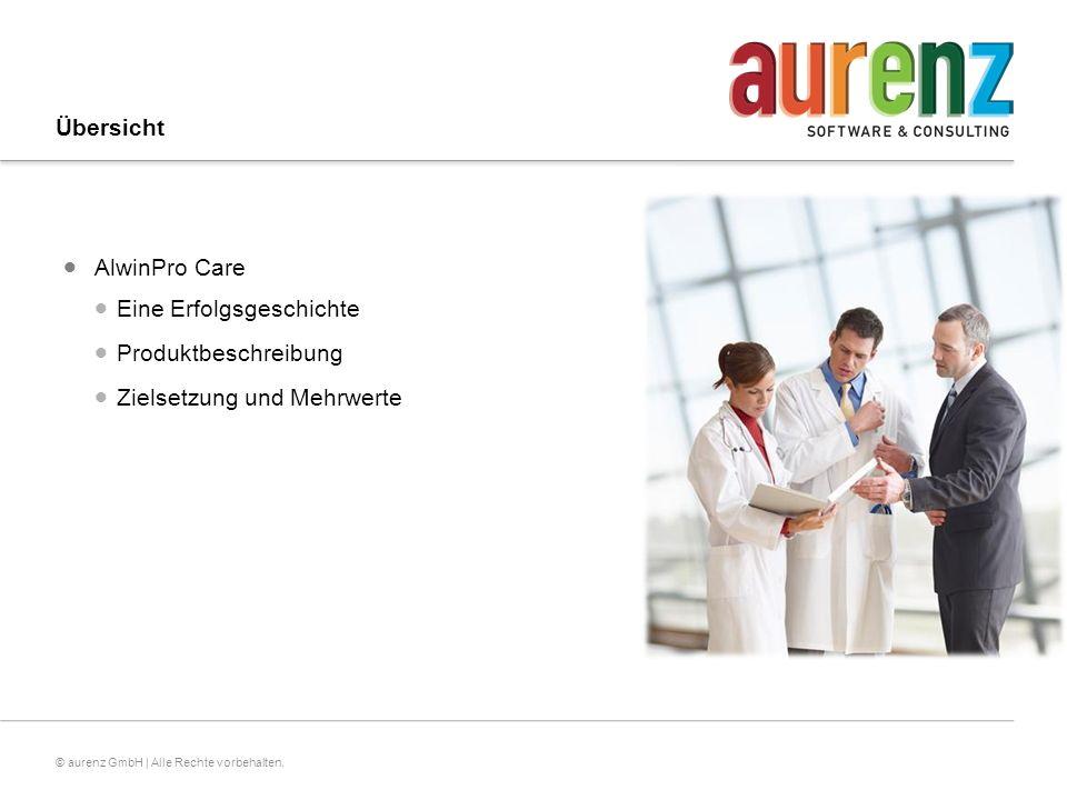 Übersicht AlwinPro Care Eine Erfolgsgeschichte Produktbeschreibung Zielsetzung und Mehrwerte