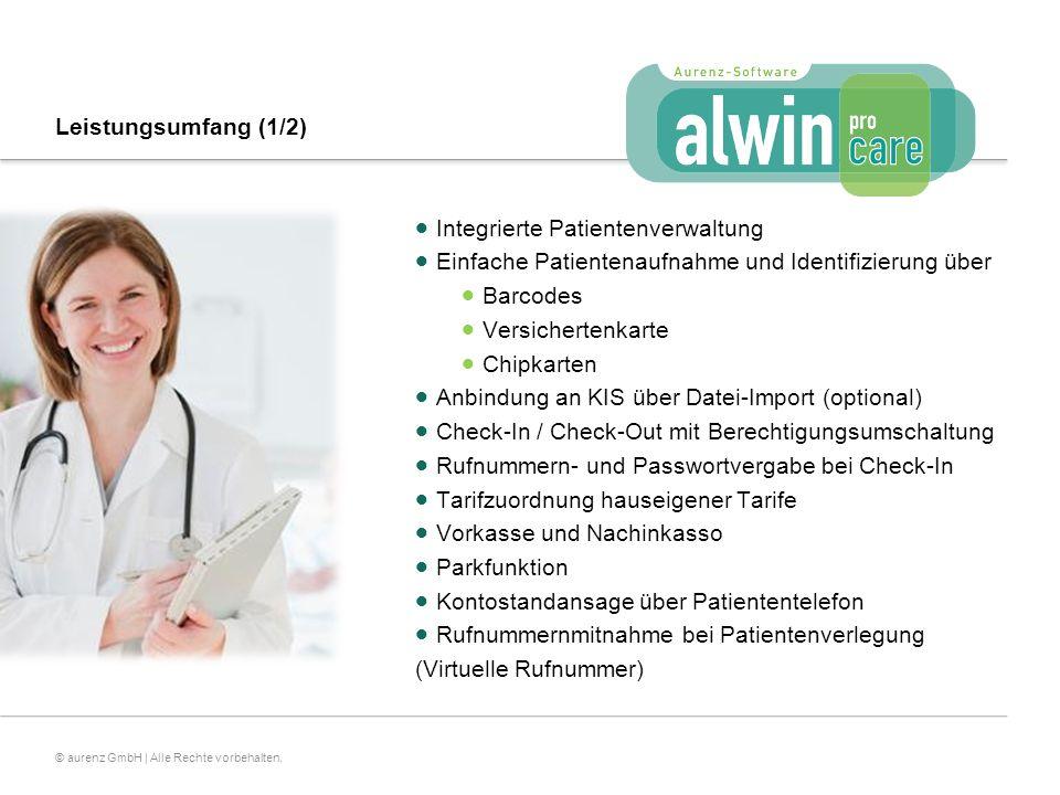 Leistungsumfang (1/2) Integrierte Patientenverwaltung. Einfache Patientenaufnahme und Identifizierung über.