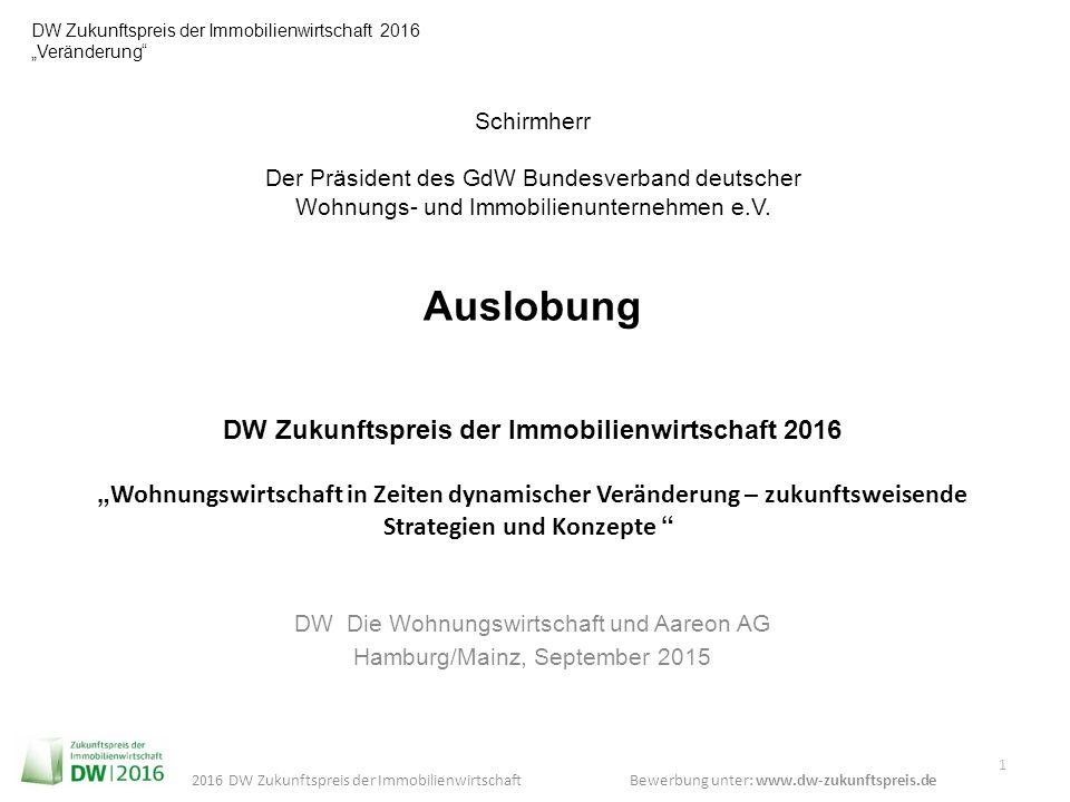 DW Die Wohnungswirtschaft und Aareon AG Hamburg/Mainz, September 2015