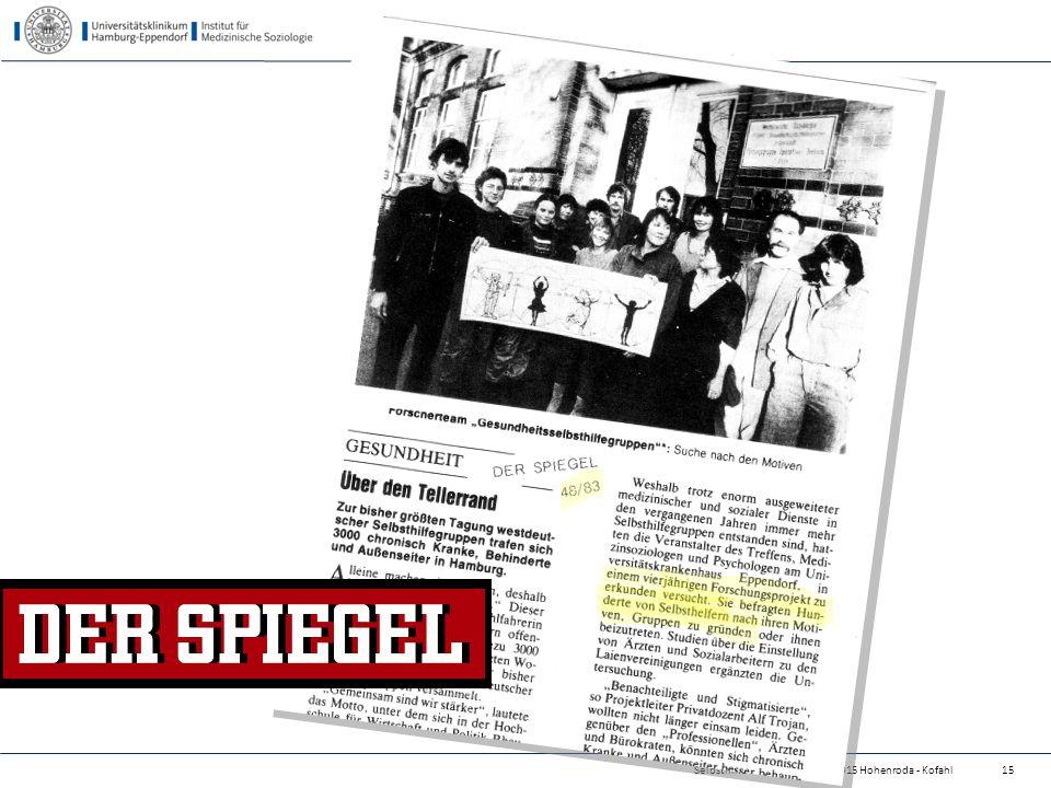 24.04.2017 Selbsthilfe als 4. Säule - 14.5.2015 Hohenroda - Kofahl