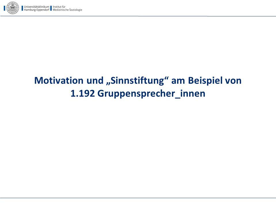"""Motivation und """"Sinnstiftung am Beispiel von 1"""
