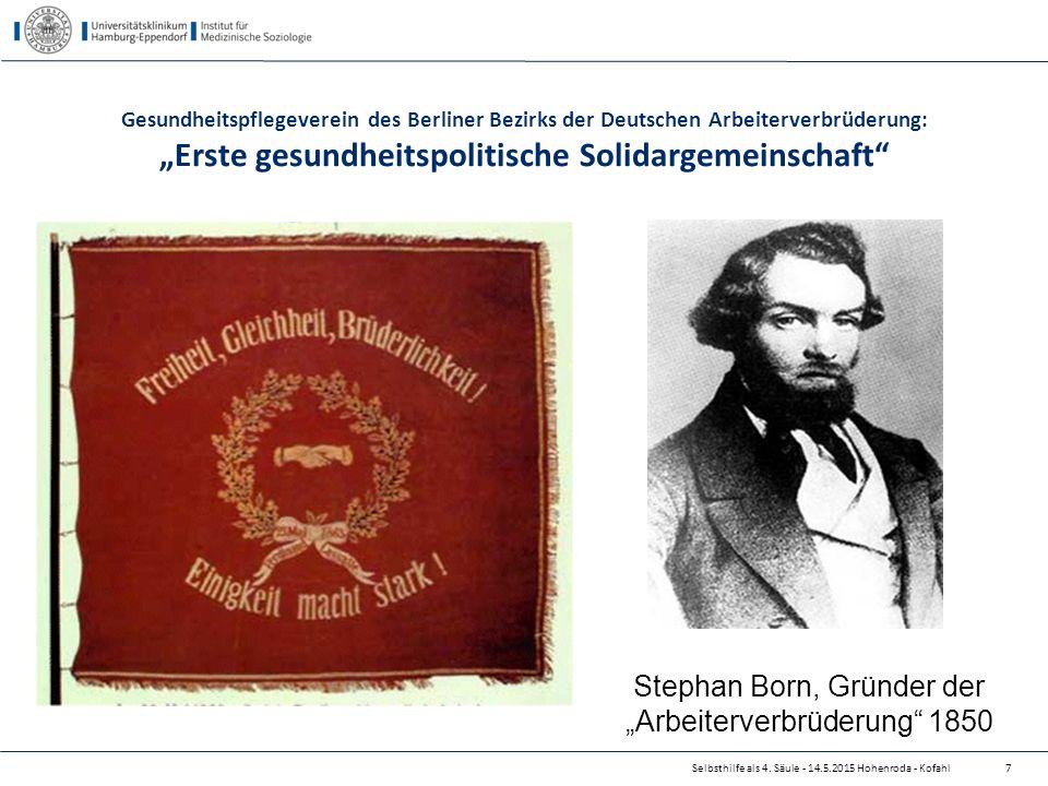 """Stephan Born, Gründer der """"Arbeiterverbrüderung 1850"""